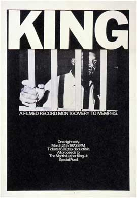 King: A Filmed Record... Montgomery to Memphis - 11 x 17 Movie Poster - Style A