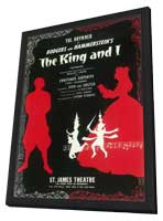 King And I, The (Broadway) - 11 x 17 Poster - Style A - in Deluxe Wood Frame