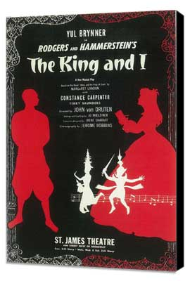 King And I, The (Broadway) - 11 x 17 Poster - Style A - Museum Wrapped Canvas