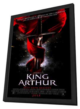 King Arthur - 27 x 40 Movie Poster - Style A - in Deluxe Wood Frame