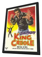 King Creole - 27 x 40 Movie Poster - French Style A - in Deluxe Wood Frame