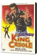 King Creole - 27 x 40 Movie Poster - French Style A - Museum Wrapped Canvas