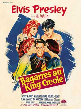 King Creole - 11 x 17 Movie Poster - French Style B