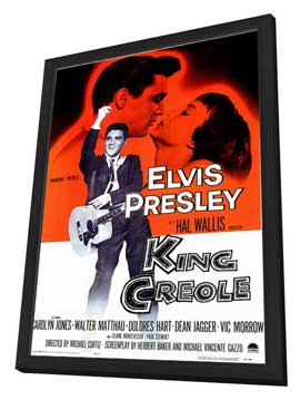 King Creole - 11 x 17 Movie Poster - Style A - in Deluxe Wood Frame