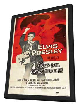 King Creole - 14 x 36 Movie Poster - Insert Style A - in Deluxe Wood Frame