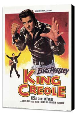 King Creole - 11 x 17 Movie Poster - French Style A - Museum Wrapped Canvas