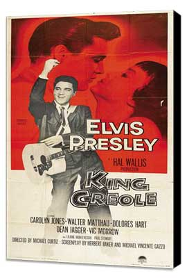 King Creole - 14 x 36 Movie Poster - Insert Style A - Museum Wrapped Canvas