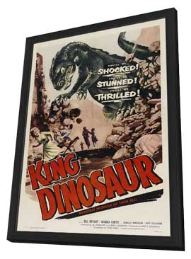 King Dinosaur - 11 x 17 Movie Poster - Style A - in Deluxe Wood Frame