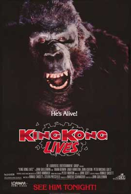 King Kong Lives - 27 x 40 Movie Poster - Style A