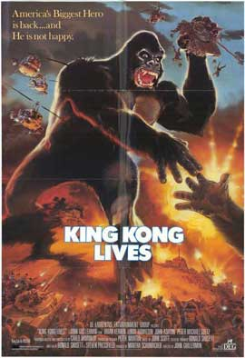 King Kong Lives - 27 x 40 Movie Poster - Style B