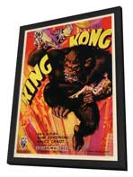 King Kong - 27 x 40 Movie Poster - Style C - in Deluxe Wood Frame