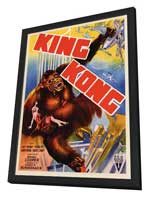 King Kong - 27 x 40 Movie Poster - Style F - in Deluxe Wood Frame