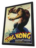 King Kong - 20 x 40 Movie Poster - Style A - in Deluxe Wood Frame