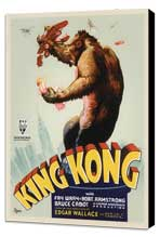 King Kong - 27 x 40 Movie Poster - Style D - Museum Wrapped Canvas