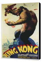 King Kong - 20 x 40 Movie Poster - Style A - Museum Wrapped Canvas