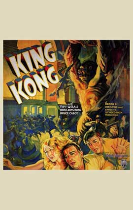 King Kong - 11 x 17 Movie Poster - Style F