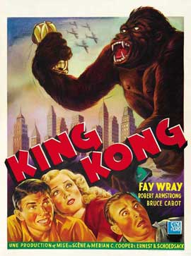 King Kong - 27 x 40 Movie Poster - Belgian Style A