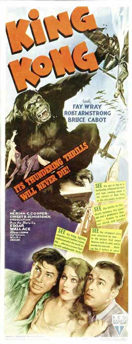 King Kong - 14 x 36 Movie Poster - Insert Style A