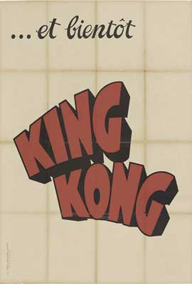 King Kong - 27 x 40 Movie Poster - French Style A