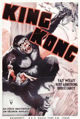 King Kong - 27 x 40 Movie Poster - Swedish Style A