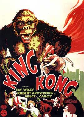 King Kong - 11 x 17 Movie Poster - French Style B
