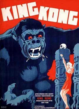 King Kong - 11 x 17 Movie Poster - German Style A