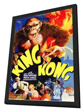 King Kong - 11 x 17 Movie Poster - Style A - in Deluxe Wood Frame