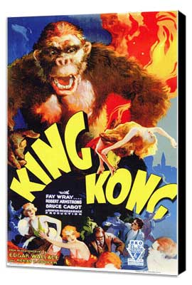 King Kong - 11 x 17 Movie Poster - Style A - Museum Wrapped Canvas