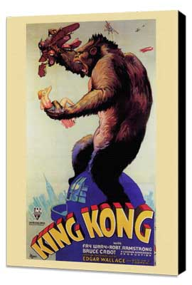 King Kong - 11 x 17 Movie Poster - Style I - Museum Wrapped Canvas