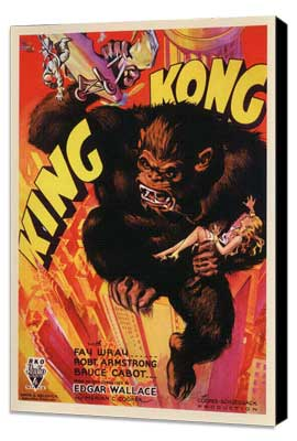 King Kong - 27 x 40 Movie Poster - Style C - Museum Wrapped Canvas