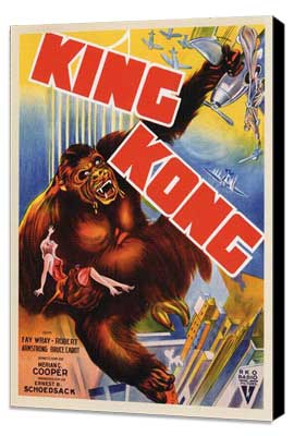 King Kong - 27 x 40 Movie Poster - Style F - Museum Wrapped Canvas
