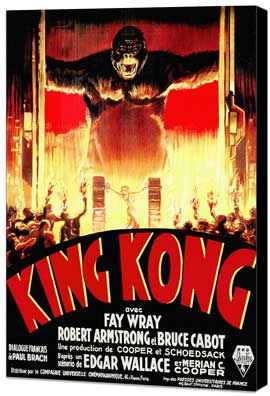King Kong - 27 x 40 Movie Poster - Style H - Museum Wrapped Canvas