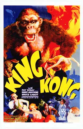 King Kong - Movie Poster - Reproduction - 11 x 17 Style A
