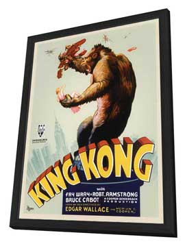 King Kong - 11 x 17 Movie Poster - Style B - in Deluxe Wood Frame
