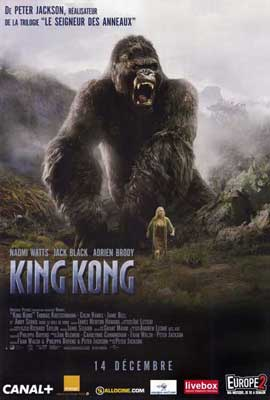 King Kong - 27 x 40 Movie Poster - French Style B
