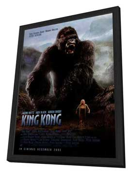 King Kong - 11 x 17 Movie Poster - Style M - in Deluxe Wood Frame