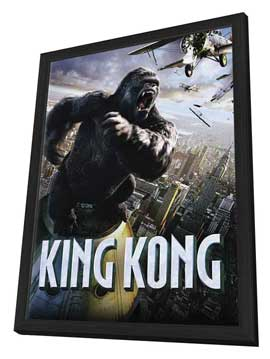 King Kong - 11 x 17 Poster - Style AL - in Deluxe Wood Frame