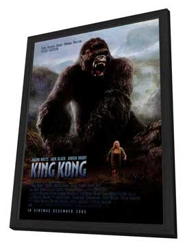 King Kong - 27 x 40 Movie Poster - Style D - in Deluxe Wood Frame