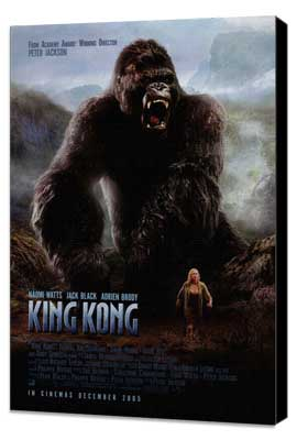 King Kong - 11 x 17 Movie Poster - Style M - Museum Wrapped Canvas