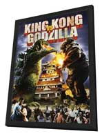 King Kong vs. Godzilla - 27 x 40 Movie Poster - Style B - in Deluxe Wood Frame