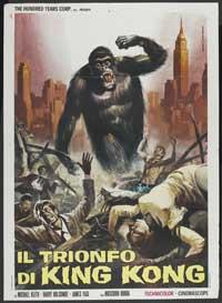 King Kong vs. Godzilla - 11 x 17 Movie Poster - Italian Style A