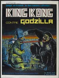 King Kong vs. Godzilla - 27 x 40 Movie Poster - French Style A