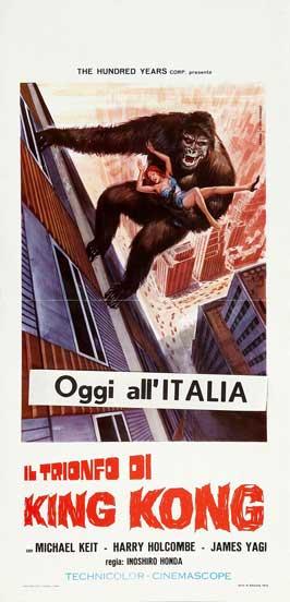 King Kong vs. Godzilla - 13 x 28 Movie Poster - Italian Style A