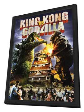 King Kong vs. Godzilla - 11 x 17 Movie Poster - Style B - in Deluxe Wood Frame
