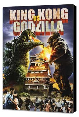 King Kong vs. Godzilla - 27 x 40 Movie Poster - Style B - Museum Wrapped Canvas