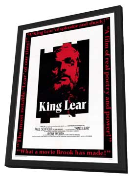 King Lear - 11 x 17 Movie Poster - Style A - in Deluxe Wood Frame