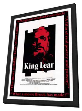 King Lear - 27 x 40 Movie Poster - Style A - in Deluxe Wood Frame