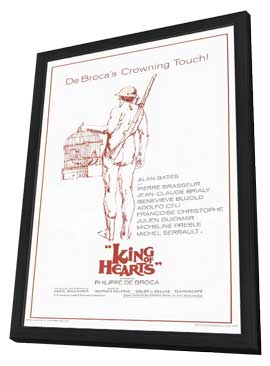 The King of Hearts - 11 x 17 Movie Poster - Style C - in Deluxe Wood Frame