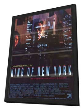 King of New York - 11 x 17 Movie Poster - Style B - in Deluxe Wood Frame