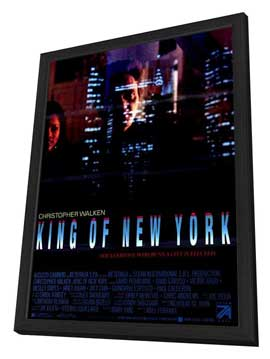 King of New York - 27 x 40 Movie Poster - Style B - in Deluxe Wood Frame